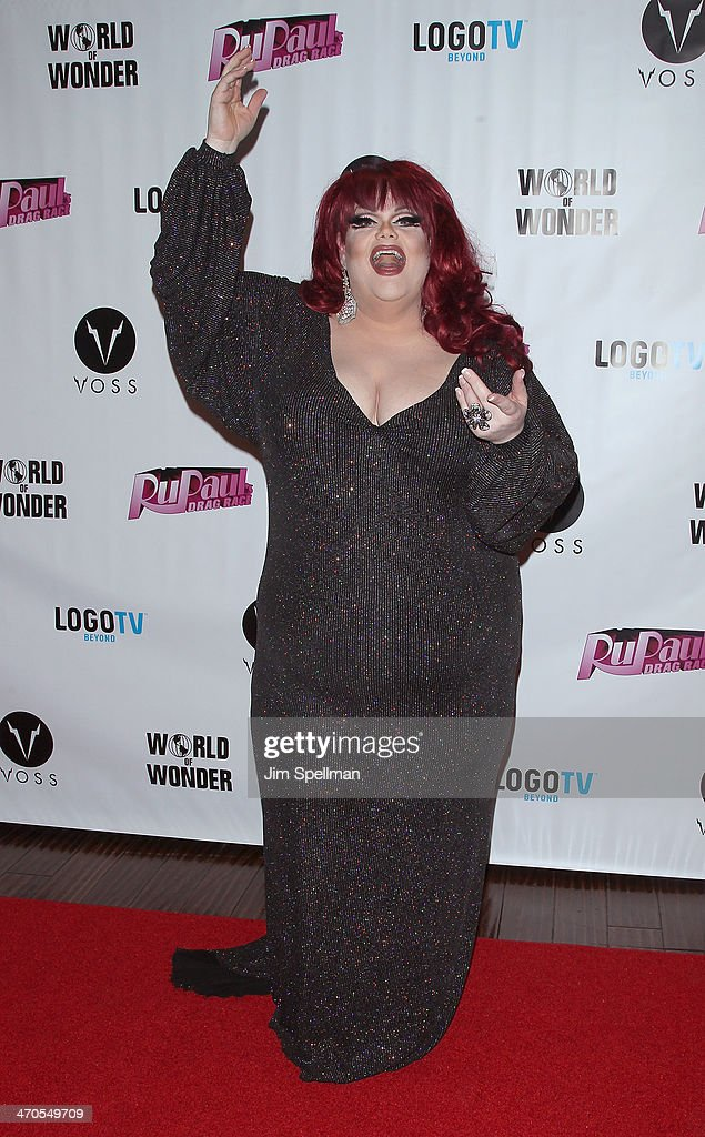 <a gi-track='captionPersonalityLinkClicked' href=/galleries/search?phrase=Darienne+Lake&family=editorial&specificpeople=12482522 ng-click='$event.stopPropagation()'>Darienne Lake</a> attends 'RuPaul's Drag Race' Season 6 Premiere Party at Stage 48 on February 19, 2014 in New York City.