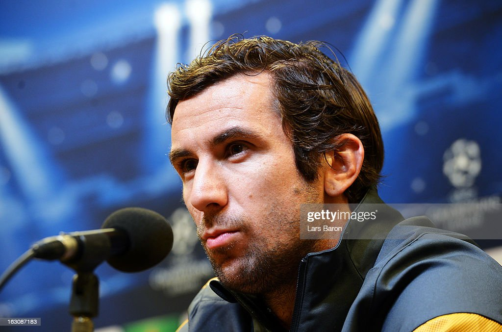 Darijo Srna looks on during a FC Shakhtar Donetsk press conference ahead of their UEFA Champions League round of 16 match against Borussia Dortmund on March 4, 2013 in Dortmund, Germany.
