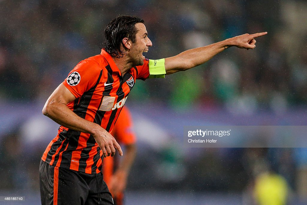 SK Rapid Vienna v FC Shakhtar Donetsk - UEFA Champions League: Qualifying Round Play Off First Leg : News Photo