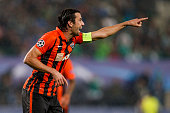 Darijo Srna of Donetsk reacts during the UEFA Champions League Qualifying Round Play Off First Leg match between SK Rapid Vienna and FC Shakhtar...