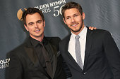 Darin Brooks and Scott Clifton arrive at the 56th Monte Carlo TV Festival Closing Ceremony and Golden Nymph Awards at The Grimaldi Forum on June 16...