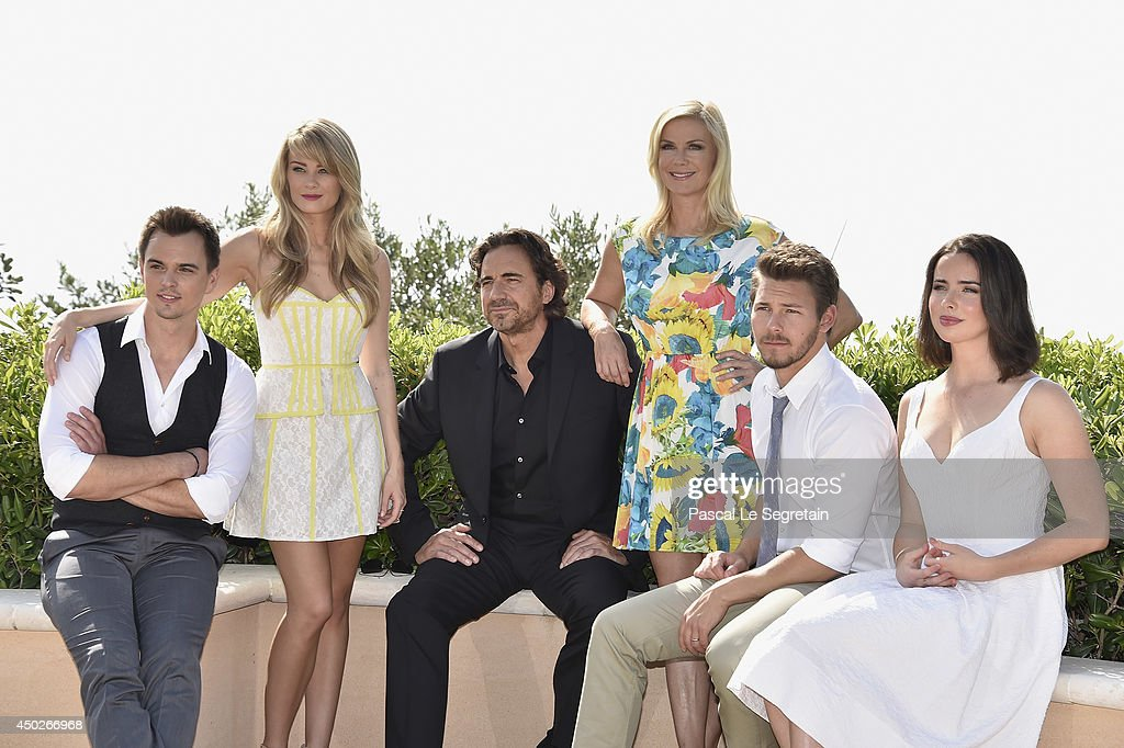 <a gi-track='captionPersonalityLinkClicked' href=/galleries/search?phrase=Darin+Brooks&family=editorial&specificpeople=665177 ng-click='$event.stopPropagation()'>Darin Brooks</a>, Kim Matula, <a gi-track='captionPersonalityLinkClicked' href=/galleries/search?phrase=Thorsten+Kaye&family=editorial&specificpeople=663621 ng-click='$event.stopPropagation()'>Thorsten Kaye</a>, <a gi-track='captionPersonalityLinkClicked' href=/galleries/search?phrase=Katherine+Kelly+Lang&family=editorial&specificpeople=663697 ng-click='$event.stopPropagation()'>Katherine Kelly Lang</a>, <a gi-track='captionPersonalityLinkClicked' href=/galleries/search?phrase=Scott+Clifton&family=editorial&specificpeople=675202 ng-click='$event.stopPropagation()'>Scott Clifton</a> and Ashleigh Brewer pose during a photocall for the TV Show ' The Bold and the Beautiful' as part of the 54th Monte-Carlo Television Festival on June 8, 2014 in Monte-Carlo, Monaco.