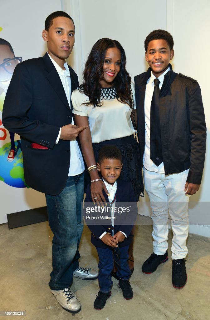 Darin Ryan, Tameka Foster, Ryan Glover and Naviyd Raymond attend the birthday and foundation lanuch Kile's World to honor Kile Glover at the Woodruff Arts Center on March 29, 2013 in Atlanta, Georgia.