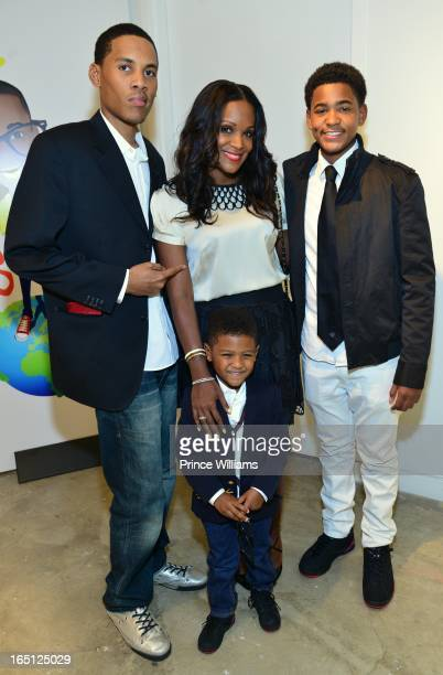 Darin Ryan Tameka Foster Ryan Glover and Naviyd Raymond attend the birthday and foundation lanuch Kile's World to honor Kile Glover at the Woodruff...
