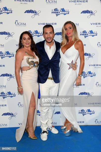 Darina Pavlova Sandro Rubini and Raquel Bernal attends Celebrity Fight Night on September 10 2017 in Rome Italy