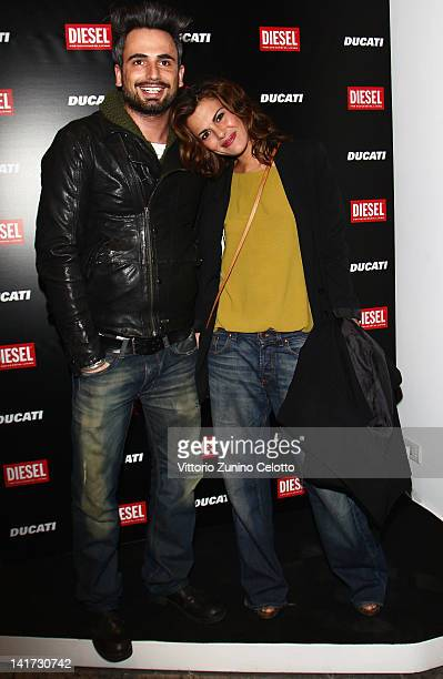 Dario Acocella and Bianca Guaccero attend the 'Diesel Together With Ducati' cocktail party on March 22 2012 in Rome Italy