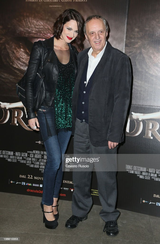 Dario Argento and Asia Argento attend the 'Dracula in 3D' premiere at Cinema Barberini on November 21, 2012 in Rome, Italy.