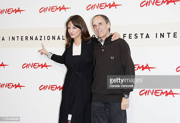 Dario Argento and Asia Argento attend the 'La Terza Madre' photocall during Day 7 of the 2nd Rome Film Festival on October 24 2007 in Rome Italy
