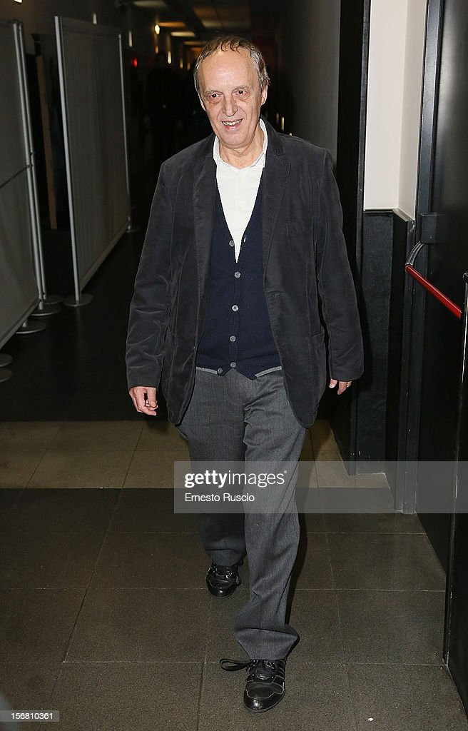 Dario Argento attends the 'Dracula in 3D' premiere at Cinema Barberini on November 21, 2012 in Rome, Italy.