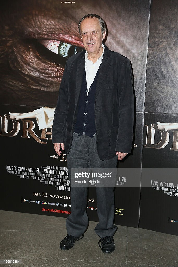 Dario Argento attends the 'Dracula in 3D' premiere at Cinema Barberini on November 21, 2012 in Rome, Italy.