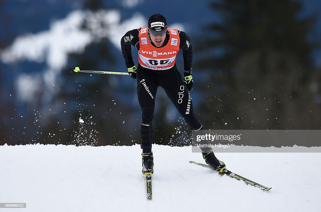 <a gi-track='captionPersonalityLinkClicked' href=/galleries/search?phrase=Dario+Cologna&family=editorial&specificpeople=4779620 ng-click='$event.stopPropagation()'>Dario Cologna</a> of Switzerland competes during the Men's Prologue 4.4 km Individual Free event for the FIS Cross Country World Cup Tour de Ski on January 3, 2015 in Oberstdorf, Germany.
