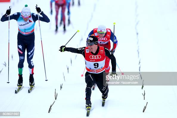 Dario Cologna of Switzerland wins the 2nd place at the Mens 15km Mass Start Classic Competition during day 2 of the FIS Tour de Ski event on January...