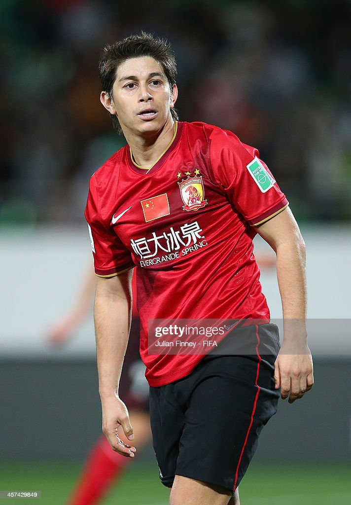 Dario Conca of Guangzhou Evergrande FC looks on during the FIFA Club World Cup Semi Final match between Guangzhou Evergrande FC and Bayern Muenchen...