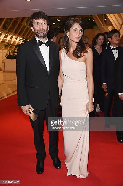Dario Franceschini and Michela Di Biase attend the Opening Ceremony Dinner at the 67th Annual Cannes Film Festival on May 14 2014 in Cannes France