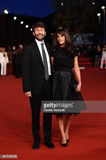 Dario Franceschini and Michela Di Biase attend the Rome Film Festival Opening and 'Soap Opera' Red Carpet during the 9th Rome Film Festival at...