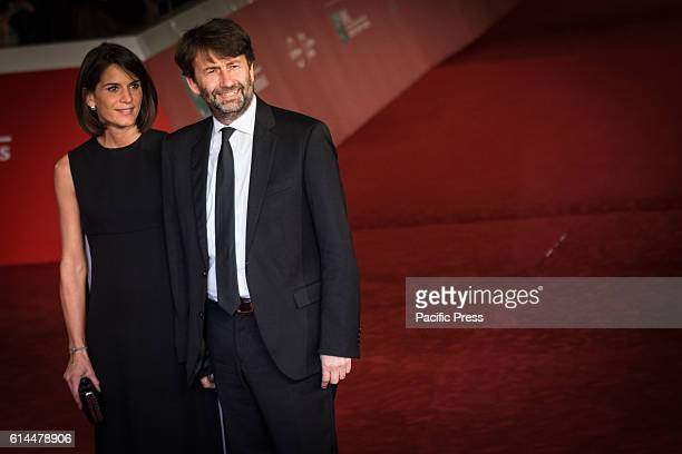 Dario Franceschini and Michela Di Biase during the Film Festival Eleventh Edition Red carpet with Moonlight