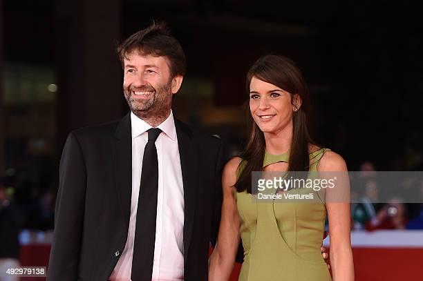 Dario Franceschini and Michela di Biase walk the red carpet for 'Truth' during the 10th Rome Film Fest at Auditorium Parco Della Musica on October 16...
