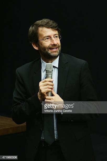 Dario Franceschini attend Fondazione Prada Press Conference on May 2 2015 in Milan Italy