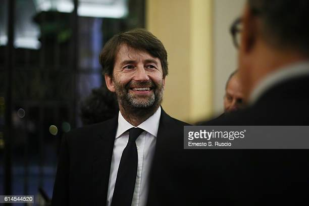 Dario Franceschini attends a party honouring Tom Hanks on October 13 2016 in Rome Italy