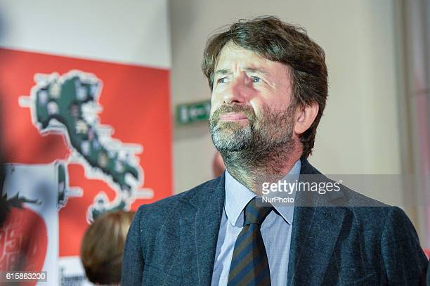 Dario Franceschini Minister for the Culture during the opening of the exhibition ISTAT ninety years related to the country at Vittoriano Rome on...