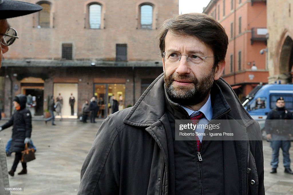 <a gi-track='captionPersonalityLinkClicked' href=/galleries/search?phrase=Dario+Franceschini&family=editorial&specificpeople=4851356 ng-click='$event.stopPropagation()'>Dario Franceschini</a>, PD's candidate at Italian Parliament in the next political elections, attends the press conference to present himself at Farnese Chapel of Palazzo D'Accursio on January 15, 2013 in Bologna, Italy.