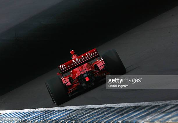 Dario Franchitti of Great Britain drives the Target Chip Ganassi Racing Dallara Honda during practice for the Indy Japan 300 The Final on the road...