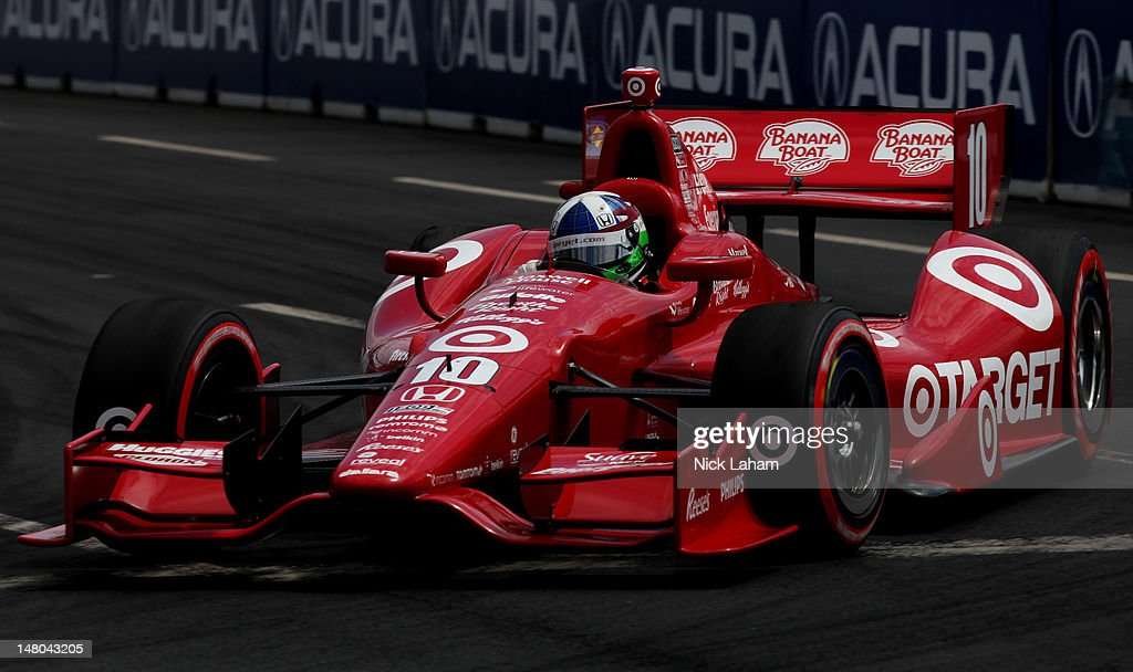 <a gi-track='captionPersonalityLinkClicked' href=/galleries/search?phrase=Dario+Franchitti&family=editorial&specificpeople=171306 ng-click='$event.stopPropagation()'>Dario Franchitti</a> of Scotland, drives the #10 Target Chip Ganassi Racing Honda during the IZOD INDYCAR Series Honda Indy Toronto on July 8, 2012 in Toronto, Canada.
