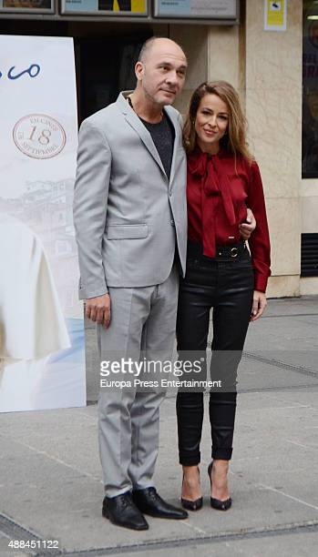 Dario Grandinetti and Silvia Abascal attend 'Francisco' photocall the first movie that deal with Pope Francis on September 15 2015 in Madrid Spain