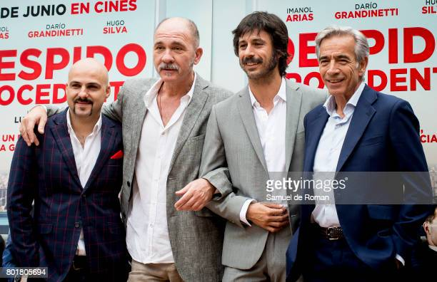 Dario Grandinetti Hugo Silva Lucas Figueroa and Imanol Arias Attend 'Despido Procedente' Madrid Photocall on June 27 2017 in Madrid Spain