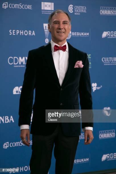 Dario Pie poses during during the 59th Ariel Awards Red Carpet at Palacio de Bellas Artes on July 11 2017 in Mexico City Mexico