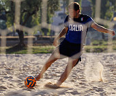 Dario Ramacciotti of Italy in action during the Italy Beach Soccer meetup on May 19 2015 in Formia Italy