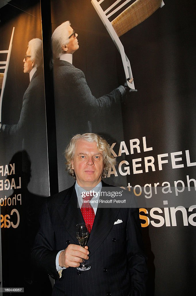 Dario Rinero attends the Karl Lagerfeld Photo Exhibition Preview at the Showroom Cassina on January 31, 2013 in Paris, France.