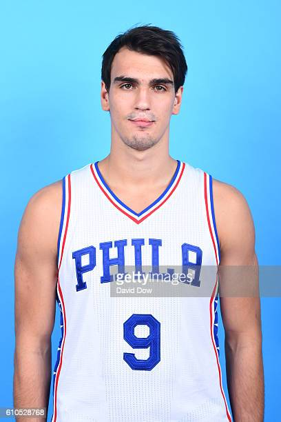 Dario Saric of the Philadelphia 76ers poses for a head shot during media day at the Philadelphia 76ers Training Complex on September 262016 in Camden...