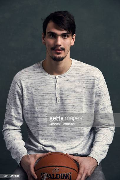 Dario Saric of the Philadelphia 76ers poses for portraits during the NBAE Circuit as part of 2017 AllStar Weekend at the RitzCarlton Hotel on...