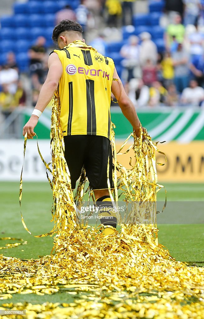 Dario Scuderi of Dortmund leaves the pitch after the A Juniors German Championship Final match between 1899 Hoffenheim U19 and Borussia Dortmund U19 at Wirsol Rhein-Neckar-Arena on May 29, 2016 in Sinsheim, Germany.