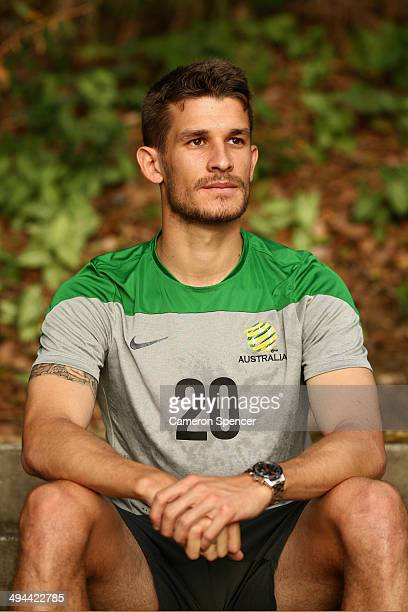 Dario Vidosic of the Socceroos poses at Praca dos Desejos on May 29 2014 in Vitoria Brazil The Socceroos will compete in the 2014 FIFA World Cup...