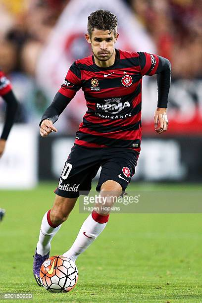 Dario Vidosic of the Wanderers in action during the round 27 ALeague match between the Wellington Phoenix and Western Sydney Wanderers at Westpac...