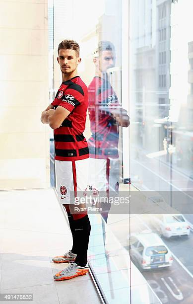 Dario Vidosic of the Wanderers poses during the 2015/16 ALeague season launch at the Telstra Customer Insight Centre on October 6 2015 in Sydney...