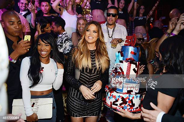 Darion Renaud Malika Haqq Khloe Kardashian French Montana and Khadijah Haqq celebrate Khloe Kardashian's 30th birthday at TAO Nightclub on July 4...