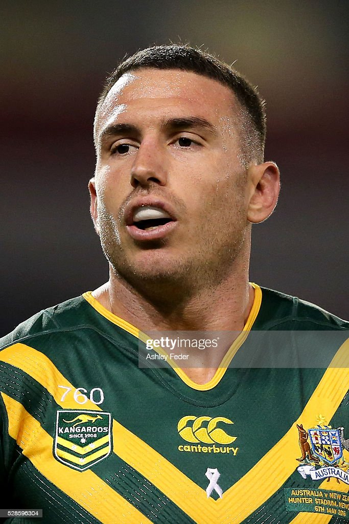 Darius Boyd of the Kangaroos during the International Rugby League Trans Tasman Test match between the Australian Kangaroos and the New Zealand Kiwis at Hunter Stadium on May 6, 2016 in Newcastle, Australia.