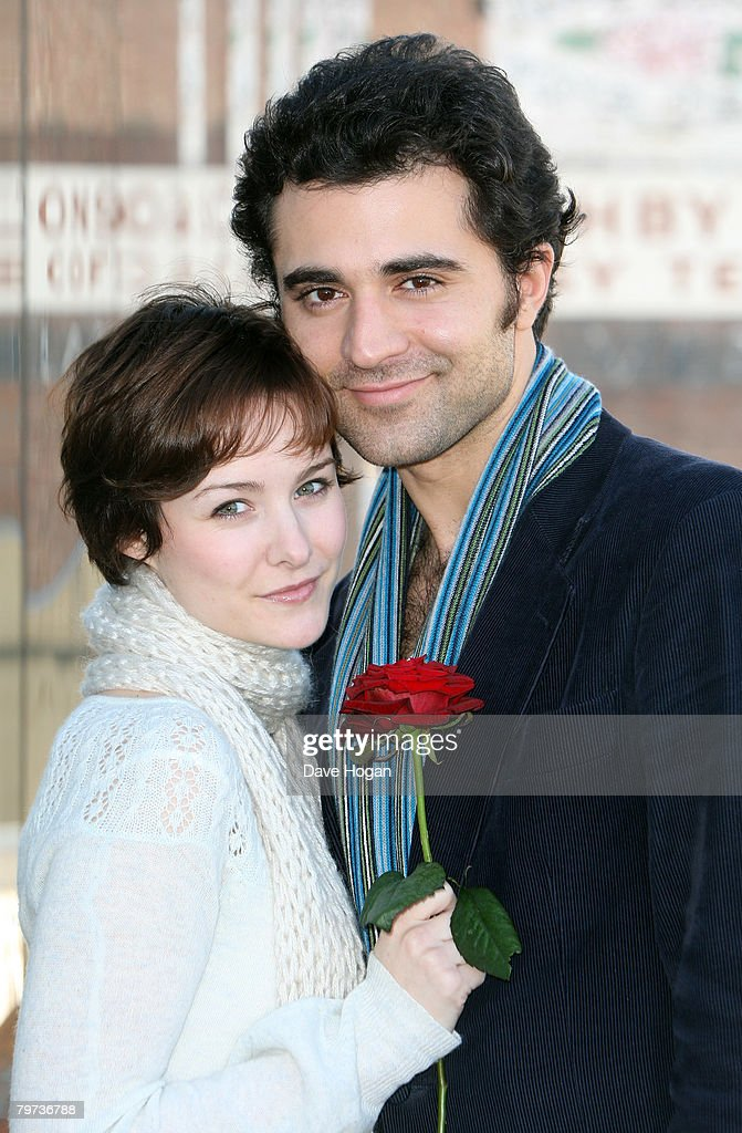 Darius Danesh and Jill Paice as Gone With The Wind's Rhett Butler and Scarlett O'Hara pose to celebrate St Valentine's Day at Jerwood Space on...
