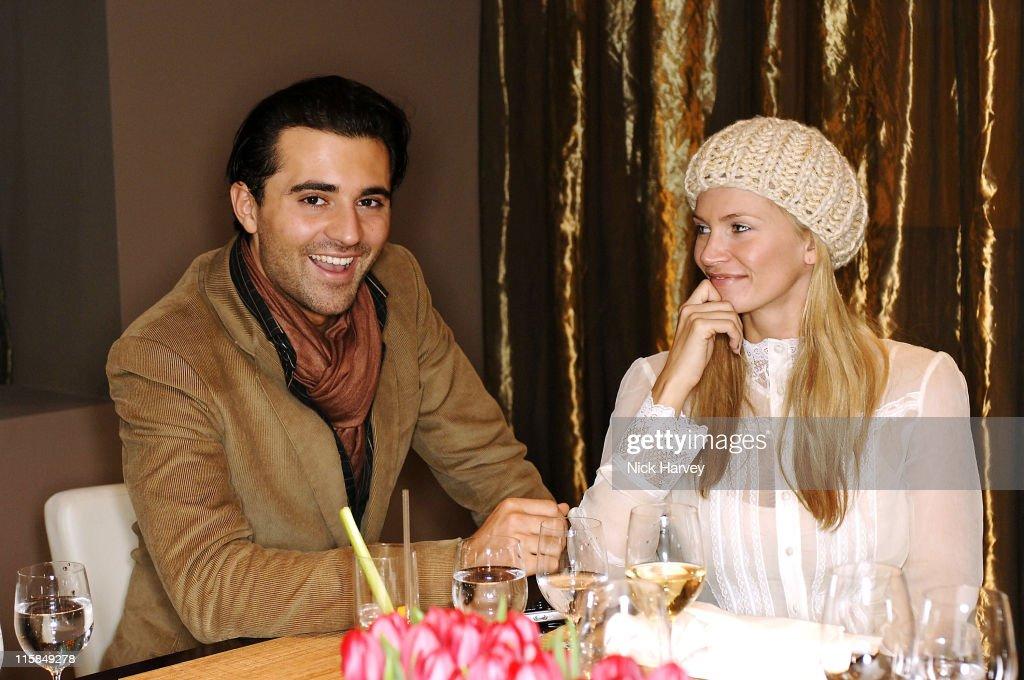 Darius Danesh and Natasha Henstridge during Loewe Lunch at The Hospital at The Hospital in London, Great Britain.
