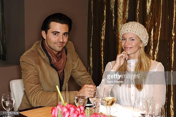 Darius Danesh and Natasha Henstridge during Loewe Lunch at The Hospital at The Hospital in London Great Britain