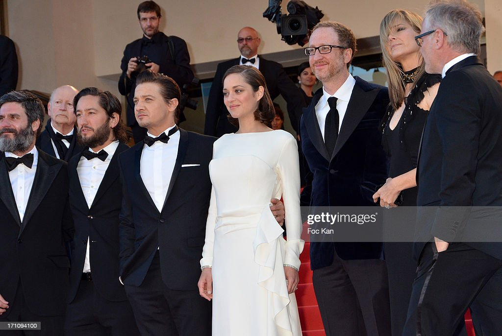 Darius Khondji, producer Anthony Katagas, actor Greg Shapiro, actor Jeremy Renner, Marion Cotillard, director James Gray and Alexandra Gray attend 'The Immigrant' Premiere during the 66th Annual Cannes Film Festival at Grand Theatre Lumiere on May 24, 2013 in Cannes, France.