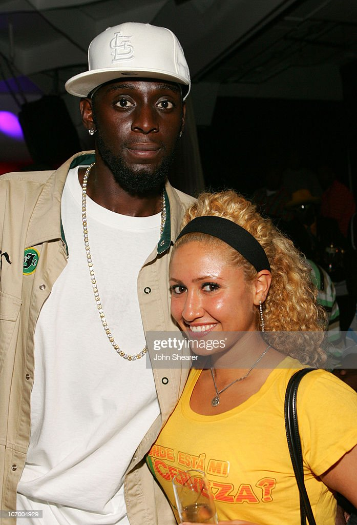 <a gi-track='captionPersonalityLinkClicked' href=/galleries/search?phrase=Darius+Miles&family=editorial&specificpeople=201702 ng-click='$event.stopPropagation()'>Darius Miles</a> and Julie Marriott during A Midsummer Night's Dream - Champion Celebration at Day After Club in Hollywood, California, United States.