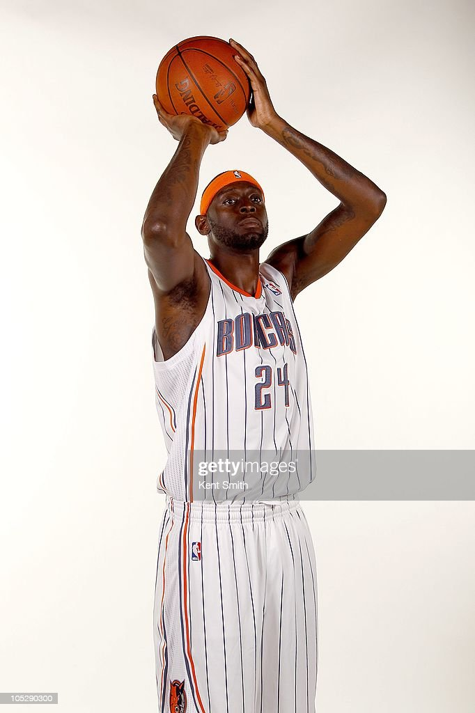 <a gi-track='captionPersonalityLinkClicked' href=/galleries/search?phrase=Darius+Miles&family=editorial&specificpeople=201702 ng-click='$event.stopPropagation()'>Darius Miles</a> #24 of the Charlotte Bobcats poses for a portrait during the 2010 NBA Media Day on September 27, 2010 at Time Warner Cable Arena in Charlotte, North Carolina.