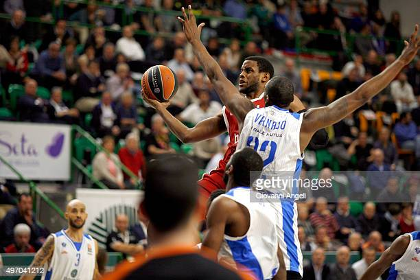 Darius Miller #21 of Brose Baskets Bamberg during the Turlish Airlines Euroleague Regular Season date 5 game between Dinamo Banco di Sardegna Sassari...