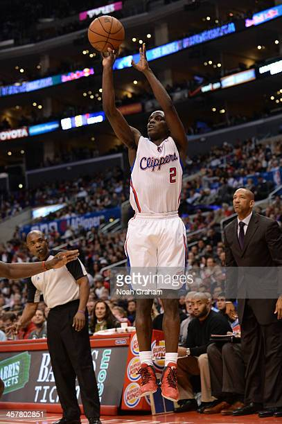 Darius Miller of the New Orleans Pelicans attempts a shot during a game against the New Orleans Pelicans on December 18 2013 at STAPLES Center in Los...