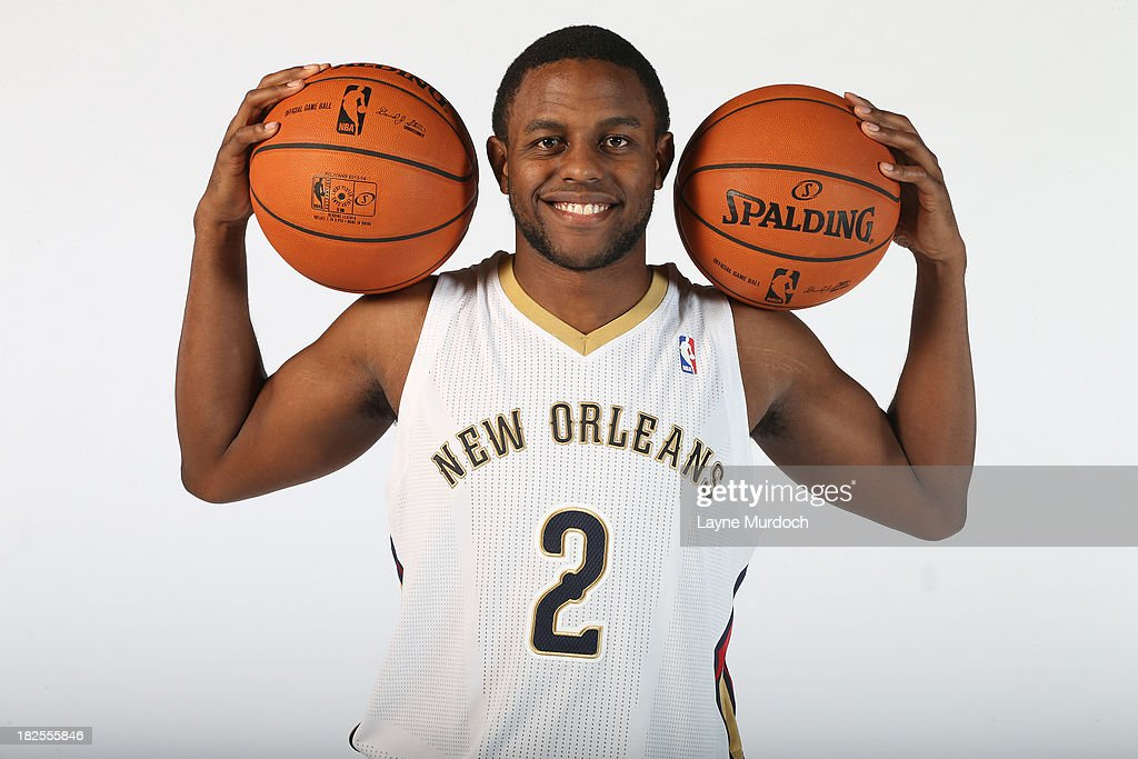 Darius Miller #2 of The New Orleans Pelicans poses for photos during NBA Media Day on September 30, 2013 at the New Orleans Pelicans practice facility in Metairie, Louisiana.