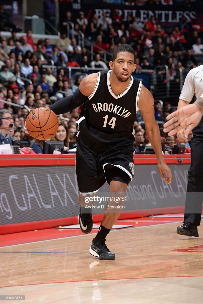 Darius Morris of the Brooklyn Nets drives against the Los Angeles Clippers on January 22 2014 at STAPLES Center in Los Angeles California NOTE TO...